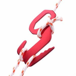 Lot de 2 crochets en forme de 9 – Pour tente – Couleur aléatoire