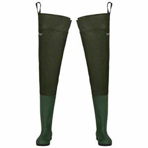 Magreel Cuissarde de Pêche Waders Imperméable, Botte de Chasse de Pêche en PVC/Nylon Ultra Légère pour Hommes et Femmes, Tailles 40 à 46