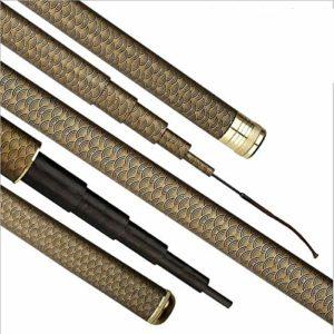 Miwaimao Carbon 19 Tune Canne à pêche plus forte pour les petits poissons Novice vétéran, 2.7m