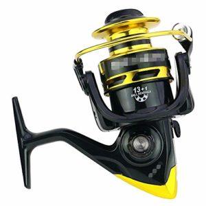 Moulinet de pêche rapide en mer à haute vitesse pour pêche en mer (couleur : noir, taille : SF1000)