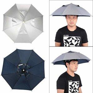 Parapluie de pêche Chapeau 26 » de diamètre Casquette Pliante Mains Libres Protection UV Chapeaux Parapluie pour Adultes Enfants Jeunes Filles Filles Garçons Randonnée Jardinage Plage Pêche Golf
