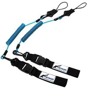 Proyaker Ocean Rigide Kayak Accessoires Lot de 2Universel Pagaie/Canne à pêche Laisse par Proyaker