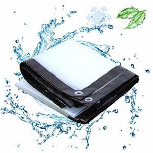 QI-CHE-YI Bâches en Tissu Plastique 5 Mils extérieur Décoration Porte Balcon fermé Artifact Anti-Pluie Coupe-Vent Pluie Transparent Tissu 120G / M² Bâche,1x1m