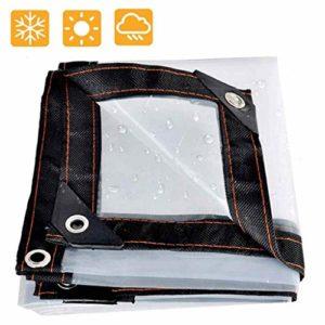 QI-CHE-YI Bâches Transparent Bordures Tissu perforé Bâche Plastique Fenêtre Coupe-Vent Fleur Bâche Serre Film 5 Mils 120G / M²,1x1m