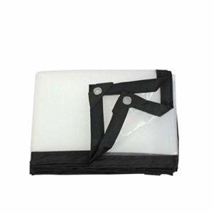 QI-CHE-YI Transparent étanche Bâche, Isolation imperméable Transparent Tissu Tissu Camion Couverture imperméable Camping, en Plein air, Terrasse, Pluie ou Le Soleil,1x1m