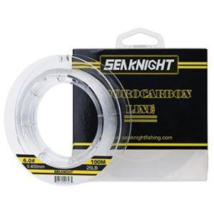 SeaKnight Fil de Peche Carpe 100% fluorocarbone Ligne de Guidage Invisible de Fluo Ligne de pêche 100m / 110yds