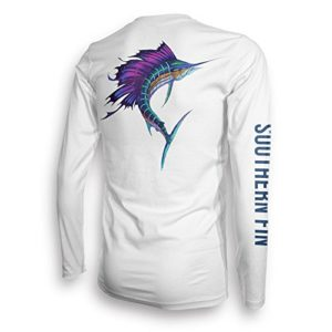 Southern Fin UPF 50 Dri Fit Long Sleeve Shirt Unisex – Medium, Sailfish (Sailfish_m)