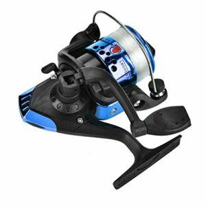 VGEBY1 3 Couleurs Moulinet de Pêche Enrouleur Placage Lisse Filature Coulée Bobine de Pêche de Pêche Accessoire(Bleu)