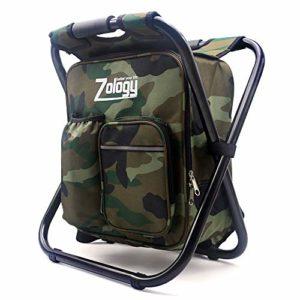 Vitorhytech Folding Sac à dos de camping avec sac isotherme Picnic Bag, Hiking Camouflage Seat Table Bag Camping Gear pour intérieur ou extérieur