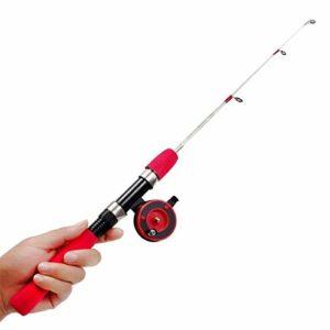Without brand WYW-HAIGAN, Canne à pêche télescopique portative Mini Forme de Stylo pliée Poche Canne à pêche avec Moulinet Roue EVA poignée pôle de pêche Spinning Rods (Size : 60cm)