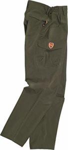 Work Team Pantalon de Chasse et de pêche imperméable avec 2 Poches latérales, 2 Poches arrière et Un Sac à Jambes. Homme – Vert – S