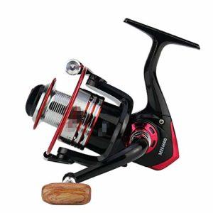 WyaengHai Moulinet de pêche à la mer interchangeable gauche/droite Moulinet de pêche en eau douce (couleur : noir, taille : MH5000)