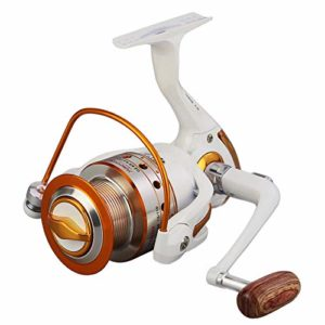 XXBFDT Moulinet de pêche de mer Moulinet d'eau Douce Eau de – Moulinet de pêche à Bascule en métal 12 + 1 Axes-Modèle 6000
