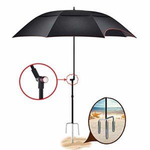 ZEH Plage Parapluie de pêche Protection imperméable/UV/Inclinaison Fonction/Pliage Peut être utilisé for Les plages, Les étangs, Les balcons, Les Parcs (1 * Sac Parapluie/Orange) CMXZ FACAI