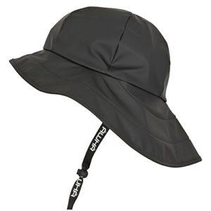 AWHA Chapeau de Pluie suroît Noir/Unisexe – Chapeau imperméable à Large Bord avec Oreillettes