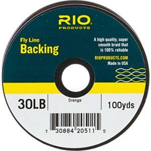 Backing RIO , Couleur : Orange, Backing : 100 yds 20 lb