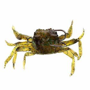 Doux Leurre de pêche avec crochet pour appât artificiel Crabe (Vert)