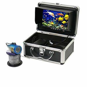 Edward Jackson Caméra pêche sous-Marine Portable 7 Pouces Moniteur Couleur HD Fish Finder Bonne for Le lac Pêche sur la Glace de mer Détecteurs de Poissons pour Kayak Bateau