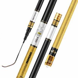 HLDLO Canne à pêche en Tournoi/Canne à pêche Ultra légère et Super Dure/télescopique/Canne à pêche en Fibre de Carbone/Cadeaux de pêche pour Homme (Size : 9 Meters)