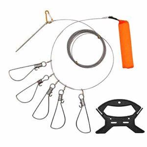 Hunter's Tail HB1000 Moulinet de pêche Ultra Lisse léger à Double roulement pour Eau salée et Eau Douce Noir