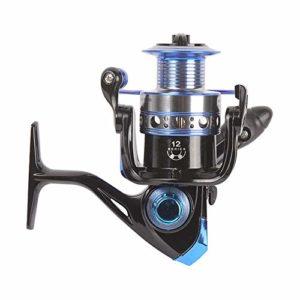 HXiaDyG Moulinet de Pêche Rapport De Vitesse 5.2: 1/4,8: 1 Pêche Spinning Reels 11 + 1BB Gauche Droite Interchangeable (Color : Blue, Size : 3000)