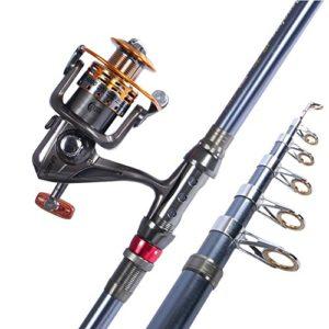 Miao Cannes à pêche, carbone dur Pêche Long Shot de canne à pêche Mer en métal, 3.6m
