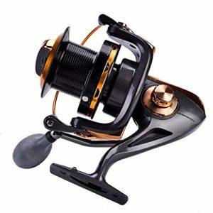 Moulinet Moulinet de Pêche, 12 + 1bb Haute Vitesse Métallique Spinning Sea Fishing Reel Wheel Accessoires Tackle(9000)