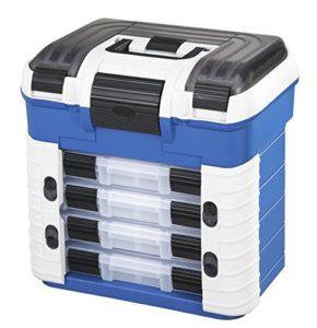 Panaro 502 Caisse de pêche en Plastique pour Transporter et protéger et Organiser l'équipement Bleu Dimensions extérieures 420 x 303 x 400 mm