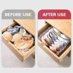 Paniers à Linge Pliables en Maille, Paniers de Tri à 7 Compartiments Avec Poignées Portables Durables
