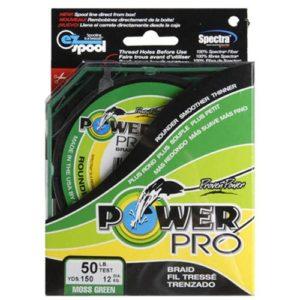 Power Pro 21100050300e Fibre de Spectra tressée Ligne de pêche, 2,3kilogram/274,3m, Vert Mousse