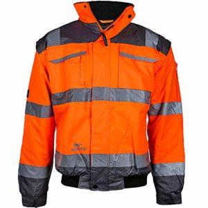 PPRO FIT – Veste de pilote – Orange fluo/gris – Manches amovibles – Taille L