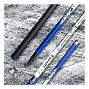 QIYUE 3,6M-7,2M Fibre de Carbone Canne à pêche télescopique Super Dur Ultra léger Carp Canne à pêche à la Main (Size : 6.3 m)