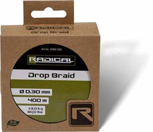 Radical Drop Braid 0,25 mm 400 m 11,3 kg 25 kg Vert foncé 400 m
