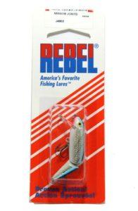 Rebel Leurres articulé Minnow Leurre de pêche, J2003S, Silver/Blue, 4 1/2 inches