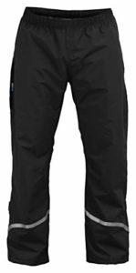 Rubberneck NXSVN Pantalon de Pluie Imperméable et Respirant pour Homme – Effet Réfléchissant grâce aux Bandes Réfléchissantes 3M – Noir L