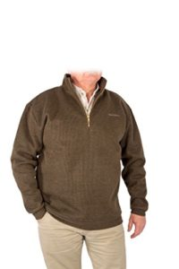 SNOWBEE pour Homme Country 1/4Zip Pull, Vert Olive, 2x L