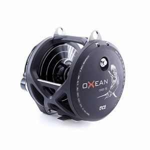 TICA Oxean Ox50Ts Moulinet de pêche Noir Mat Gear Ratio Double Speed 3.2/1.4