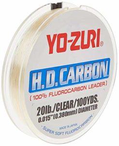 Yo-Zuri H.D. Carbone Ligne de pêche en fluorocarbure, HD 130LB CL, Claire, 130-Pound/30-Yard